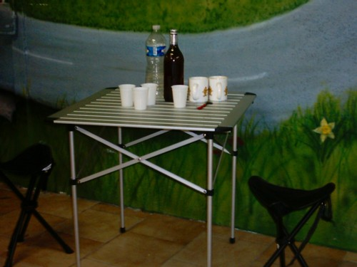 sidecar occasion - table siège camping